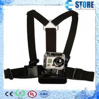 Wholesale Gopro Belt - Gopro Accessories Adjustable Elastic Chest Harness Strap Belt Mount for GoPro Hero 4 2 3 3+ SJ4000 Xiaomi yi Sport Camera