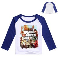 Wholesale Girls Top Nova - 3-9Years Gta 5 Tshirt Boys T-shirt with Long Sleeves Nova Kids Tops Girls Summer Custom Teenage Baby Boy Long Sleeve Tops