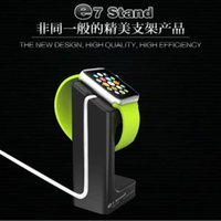 выставочные стенды оптовых-Для Apple Watch E7 Стенд Держатели 2015 Новый SmartWatch Держатель Часы Выставочный Стенд Зарядка База Пластиковое Зарядное Устройство Ленивый Кронштейн Док