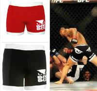 Wholesale Tudo Shorts - L,XL,XXL Vale Tudo black Man Woman Fight shorts R09 black red color free shipping