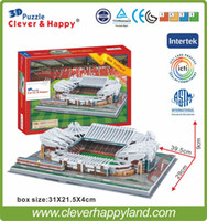 2015 New cleverhappy 3D-Puzzle-Stadion Modell Papier Old Trafford-Stadion