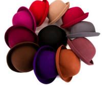Wholesale Small Brim Hats Men - Free Shipping Female Autumn and Winter Elegant Women Fashion Cap Ladies Bucket Hat Girl Small Fedoras Hat