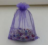 Wholesale Drawstring Organza Pouch - Hot Sales ! 100 pcs Purple With Drawstring Organza Gift Bags.7x9cm . 9x11cm 13x18cm. 17x23cm .20x30cm (b0016)