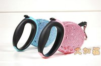 Wholesale Crystal Retractable Leash - Wholesale-Pet Products Dog Leads Luxurious Rhinestone Retractable Crystal Leads Dog Leash for Up to 44lbs 20kgs Extends 10Ft 3meter 1PC