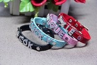 Hot Sale 50% Mix 7colors 4sizes Croc Pu cuir personnalisé DIY Nom Charm Dog Pet Collar Pet Supplies (Price exclude curseurs) 522