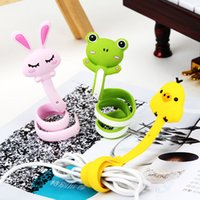 Wholesale Cute Animals Series Strips Headphone Cable Winder Wires Cables