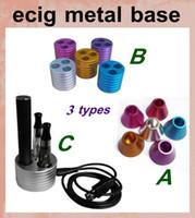 Wholesale Ego Battery Base Metal - Metal E-cigarette holder display charger base e cig ego vaporizer pen holders e cig stand for ego t ego c twist ego-w battery holder FJH01