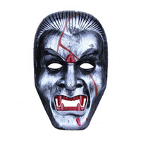 Wholesale haunted house masks - Halloween Cosplay Horror Mask Vampire Party Decoration Mask Full Face Haunted House Props Masquerade Costume Accessories 20pcs lot SD393