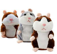 3 cores Novo Talking Hamster Plush Party Toys Speak Sound Record Hamster Plush Animal Kids Child Christmas Gifts Party Favor