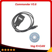 Wholesale Vag Commander Coding - 2015 High Quality Professional VAG Diagnostic Tool VAG K+CAN COMMANDER 3.6 Free Shipping
