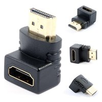 Wholesale Hdmi Female Male Coupler - HDMI to HDMI Male to Female Adapter High Speed 90 270 Degree Right Angle HDMI Male to Female Adapter Coupler Extender Gold Plated