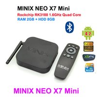 MINIX NEO X7 mini Android TV Box RK3188 Quad Core Google Smart Media Player 1080P Wifi HDMI RJ45 SPDIF 1080P 100% оригинал
