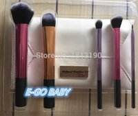 Wholesale Deluxe Makeup Brush Set - 5pcs real Newest makeup brushs set maquiagem deluxe brush set multi task foundation highlighter shadow liner brush with PU bag