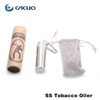Wholesale E Liquid Stainless - High Quality E Cigarette E Liquid Needle Bottles 20ml Stainless Steel Ejuice Holder SS Tobacco Oiler 1.25ml per drop