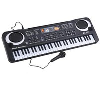 Wholesale Professional Musical Instrument Microphone - Professional Electronic Organ Piano with 61 Keys Music Digital Keyboard Electric With Microphone Musical Instrument gifts