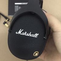 Wholesale Professional Ear Headphones - Marshall Monitor Bluetooth Headphones Deep Bass DJ Hifi Headset Professional Studio Noise Cancelling Sport Earphone Headband with Retail Box