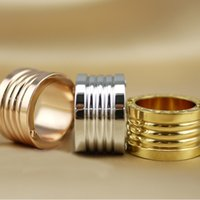 Band Rings spring ring finger - Spring steel ring K Gold Silve Plated Fashion Ring bear men ring With Drawbench Satin Design Finger Rings For Women ring men