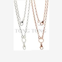 Wholesale Dog Music Box - 32''(80cm) Silver-plated Box Chain Pendant Necklace for Floating Charm Locket Memory Locket
