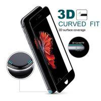 protector de pantalla iphone gratis al por mayor-Vidrio templado 3D HD Película protectora suave para iPhone X 6 6s 7 8 Plus Protector de pantalla de fibra de carbono de cubierta completa Epacket libre