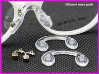 Wholesale Nose Pads Screw - Wholesale-Nose Pads Glasses Accessories 20 pair  lot eyeglasses PVC Conjoined Screw-in FJ-0