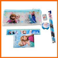 Wholesale Kid Ruler Stationery - Kids learning items Frozen stationery set for Students children stationery Frozen Pencil Cases Frozen Bags Frozen Ruler Pencil(1708001)