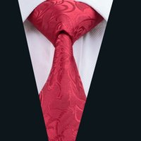 Wholesale Silk Suits China - Wedding China Red Suit Tie for Men Jacquard Woven Necktie Silk Business Formal Work Casual 8.5cm Width D-0306