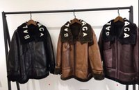 Wholesale Leather Jacket Brand For Women - Luxury Fashion Brand real fur coat for women Sheepskin coat black and brown color leather jacket