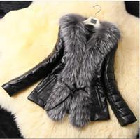 Wholesale Wearing Belts Slim Women - 2017 new autumn winter coat imitation fox fur fashion coat short section women jacket high quality PU imitation fur wear thick women caots