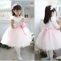 Wholesale Lace Over Silk Dress - Children dress Princess Dress Girls wedding flower girl piano costumes small auditorium presided over the clothing to slim.