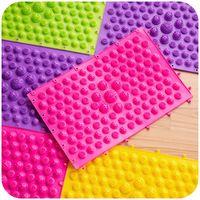 Wholesale Modern Health - 24*14cm Color Shiatsu Sheet Foot Massage Pressure Slab Toe Mat Relax Foot Pad Blanket Health Care 5pcs lot SK757