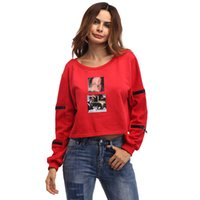 Wholesale Cheap Womens Blouses Shirts - Womens Tops 2017 New Arrival Spring Shirt Zipper Full Sleeve O Neck Red Female Casual Top Cheap Ethnic Clothing America Blouse