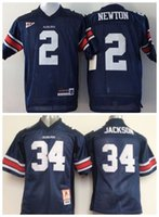 Wholesale Newton S - Factory Outlet- Wholesale Auburn Tigers 34 Bo Jackson 2 Cam Newton Youth Kids College Football Jersey