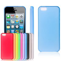 Wholesale Iphone 5c Plastic Matte - 10pcs lot Ultra Thin 0.3mm Case For Apple iPhone 5C Crystal Clear Hard Plastic Case Matte Back Cover Case For iphone 5C