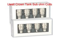 Wholesale Cotton Tanks - Uwell Crown Replacement Coil Head 0.25ohm 0.5ohm Dual Coils 0.15ohm Ni200 Coil Japanese Organic Cotton Sub-ohm OCC Tank