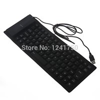 Gros-85-Key USB 2.0 pliable Silicone PC Ordinateur de Wired Keyboard -noir
