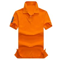 ingrosso camicie estive calde per gli uomini-2017 nuova camicia di polo di vendita calda di estate di alta qualità USA bandiera americana Polo di polo degli uomini di polo manica corta Polo 309 # Man Coat Drop