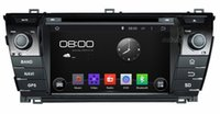 """Wholesale Dvd Corolla 3g - 4-Core 1024*600 Android 4.4 HD 2 din 7"""" Car Radio Car DVD Player for Toyota Corolla 2014 With GPS Navi 3G WIFI Bluetooth IPOD TV USB AUX IN"""