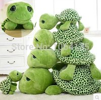 Wholesale Green Turtle Pillow - Free Shipping 40cm TY Big Eyes Green Turtle Toy Cute Large Turtle Doll Soft Children's Pillow Baby Plush Toys Creative Gift