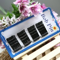 Wholesale Salon Accessories Wholesale - 60Pcs Set Women Lady Girl Black Metal Waved Hair Bobby Clip Salon Pin Grip Hairpin Barrette Hair Styling Accessories Tools