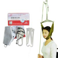 Wholesale Cervical Traction Devices - Over Door Neck Massager Cervical Traction Device Kit Neck Back Stretcher Adjustment Chiropractic Back Head Massager relaxation