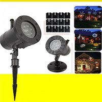 Wholesale lights for outdoor ornaments - Christmas Snowflake projector Outdoor led light Waterproof for Christmas Wedding Decorations Gifts Snowflake Projector Lights q171130