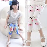Wholesale Dots Tight - 12 Color flower dot leggings 2015 New children fashion clothing girls leggings long trousers B001