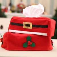 Wholesale Car Office Supplies - Christmas Tissue Boxes Napkin Bag Lint Santa Claus Snowman Tissue Bags Christmas Gifts Car Home Decoration Office Supplies XL-343