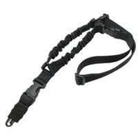 Wholesale Rifle Sling Buckle - 1000D Heavy Duty 1 Point Single Gun Sling With Side-release buckle for Bungee Rifle Carbine Shotgun black