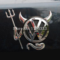 Wholesale Devil Car Decals - High quality Car Stickers for Car decal Little Devil stickers PVC car 3D stereo bumper stickers #SEK-00001