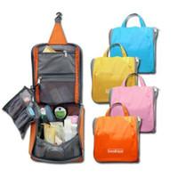 Wholesale Handbags Korea Wholesale - Woman Toiletry Makeup Kit Bag Storage Waterproof Cosmetic Bag Picnic Wash handBag Korea Multifunctional Organizer travel bag