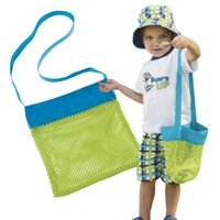 Wholesale Wall Towel Storage - 24*24cm Portable Kids Baby Mesh Beach Storage Bags Sand Away Carry Balls Clothes Towel Bag Toy Collection Organizer Nappy Bag