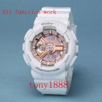 Wholesale Women Work Top - AAA Drop shipping Top quality baby brand women G sports digital LED watch with Autolight and shock and waterproof all pointers work with box
