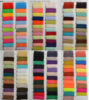 Wholesale Green Color Samples - Chiffon Color Samples New Fabric Swatches For Formal Party Dresses Vestidos De Madrinha Dress Fabric 100cm *150cm