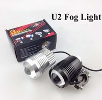 Wholesale Cree Motorbike Spot Lights - Super Lighting 30W CREE T6 U2 Motorcycle LED Spot Fog Light Waterproof Black Silver Motorbike Headlight Flash fogLamp Front light